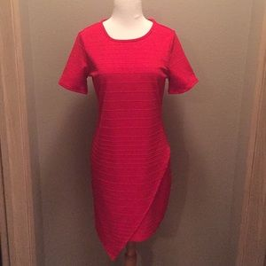 June & Hudson Red Dress - L